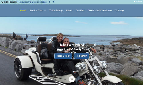 Trike Tours Ireland homepage